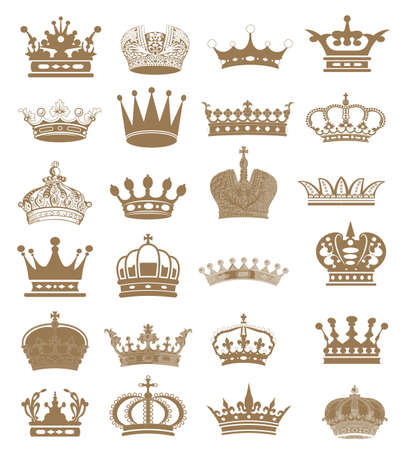 nobleman: raccolta corona corona set, silhouette corona set