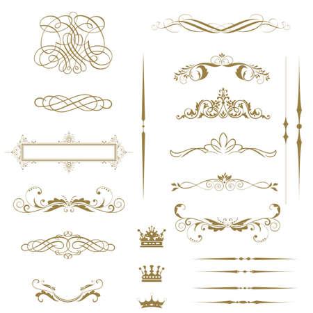 vignette: ins�rer l'�l�ment et la page calligraphiques d�coration Illustration