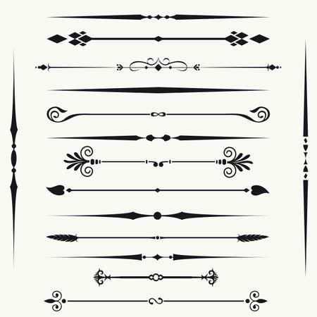 calligraphique: Les fronti�res et les �l�ments de conception Illustration