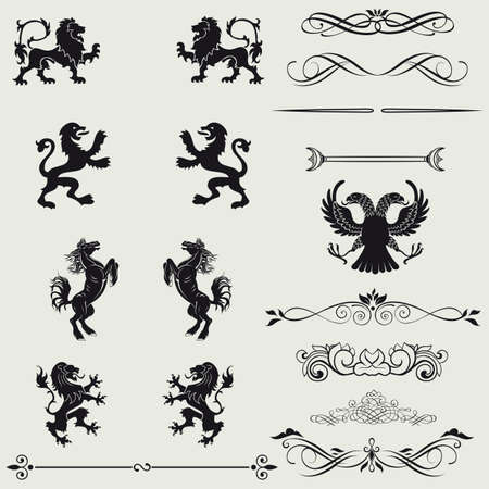 Borders and elements for design Vector
