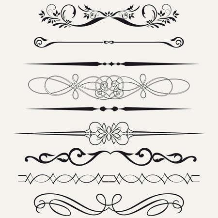 ligne: Fronti�res et des �l�ments de conception Illustration