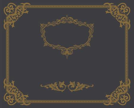 Decorative Vintage Ornate Banner  Vector Illustration  Vector