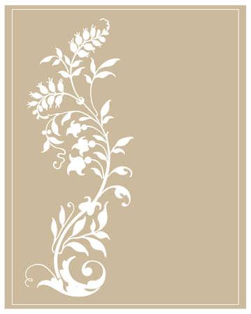 elegance: floral background with decorative flowers  Illustration