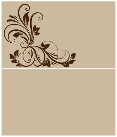 floral background with decorative flowers  Vector