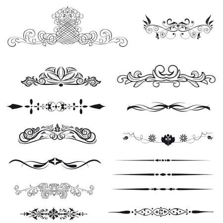ozdobně: Vector sada kaligrafické prvků a dekorace strana Ilustrace