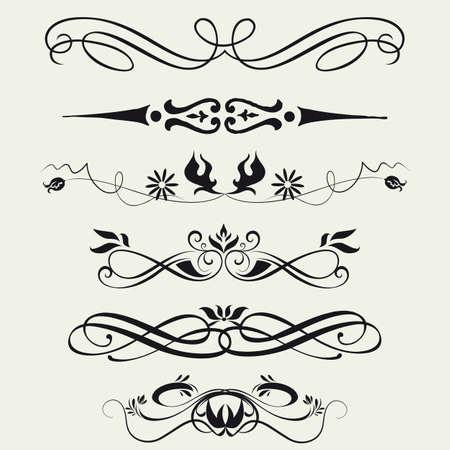 calligraphie chinoise: Les fronti�res et les �l�ments de conception Vector