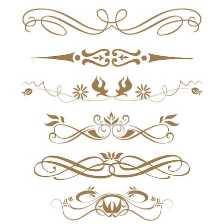 calligraphique: Les fronti�res et les �l�ments de conception Vector