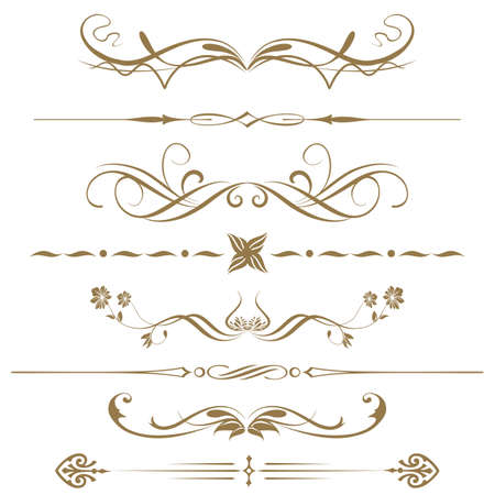 Borders and elements for design  Vector   Stock Vector - 19395605