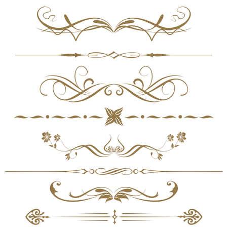 utsirad: Gränser och element för design vektor