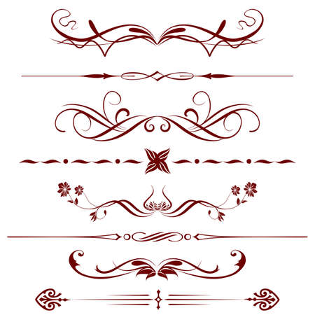 black swirl: Borders and elements for design  Vector