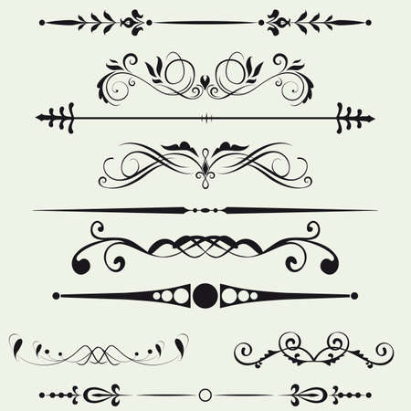 calligraphic design: Borders and elements for design  Vector