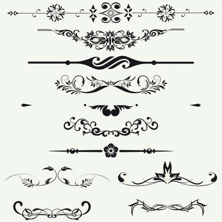 line in: Bordi ed elementi per la progettazione Vector
