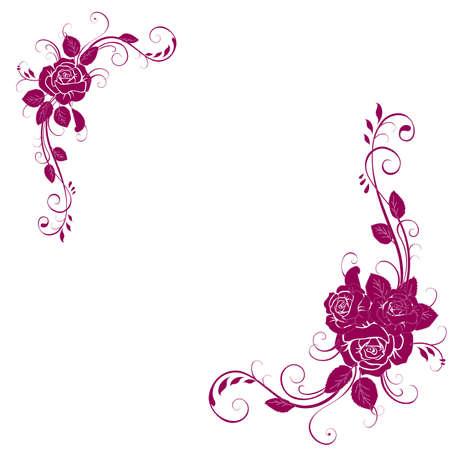 美麗的花邀請卡 向量圖像