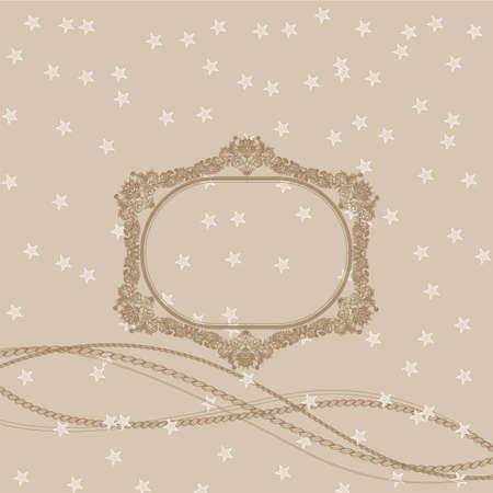 Gift bow on beige background, illustration Vector