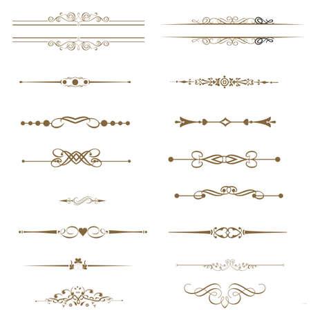 page decoration: Vector set kalligrafische elementen en pagina decoratie Stock Illustratie