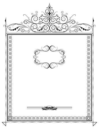 oldfield: Classic vintage frame on white  Illustration