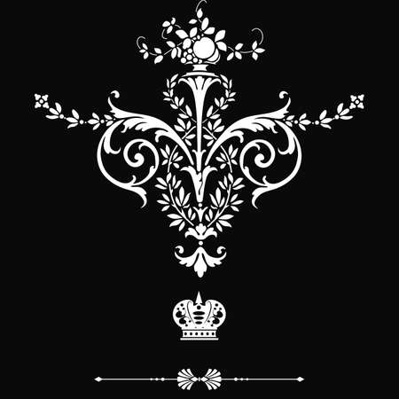 the gothic style: Elegant  frame banner with crown