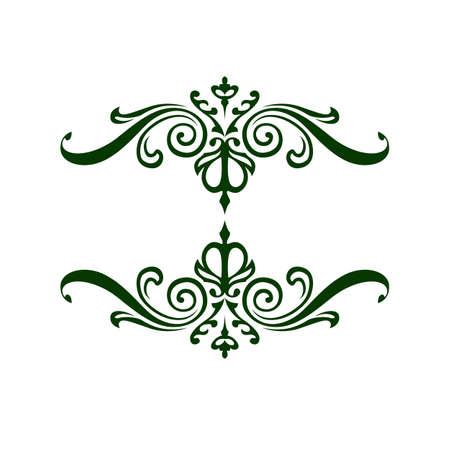 victorian: Elegant frame banner, floral elements