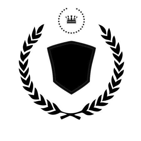 Elegant black frame banner with crown Vector