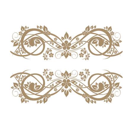 Elegant gold frame banner Vector