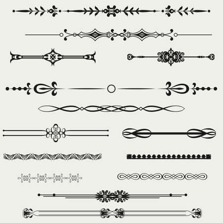 gothic design: Borders and elements for design  Vector