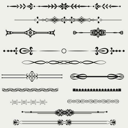 art line: Fronteras y elementos de dise�o vectorial Vectores