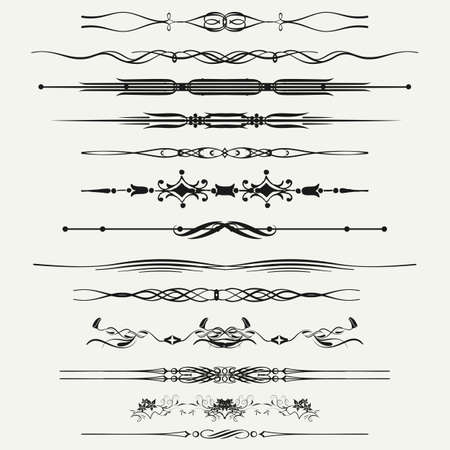 Collection of Ornamental Rule Lines in Different Design styles Stock Vector - 21024350