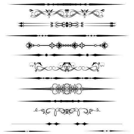 Collection of Ornamental Rule Lines in Different Design styles Stock Vector - 21024352