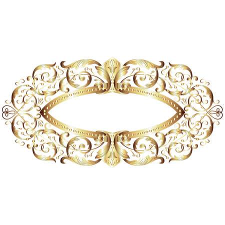 Elegant gold frame banner Stock Vector - 21216523