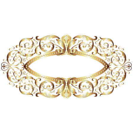 victorian fashion: Elegant gold frame banner
