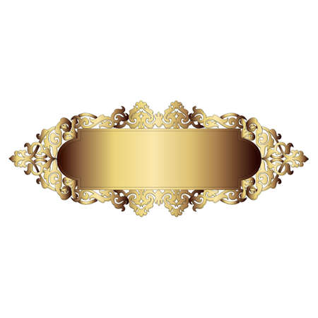 gold border: Elegant gold frame banner