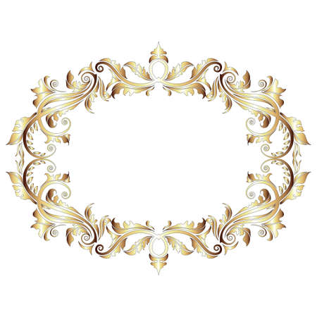 style: Elegant gold frame banner