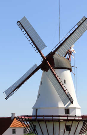 Traditional Old dutch windmill  photo