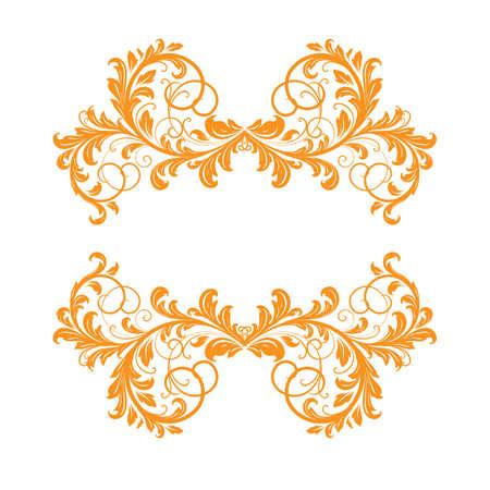 Elegant frame banner, floral elements Vector
