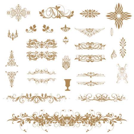 Vintage ornaments and dividers Illustration