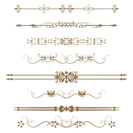 Collection of Ornamental Rule Lines in Different Design styles Stock Vector - 21637078