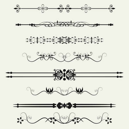 Collection of Ornamental Rule Lines in Different Design styles Stock Vector - 21637082
