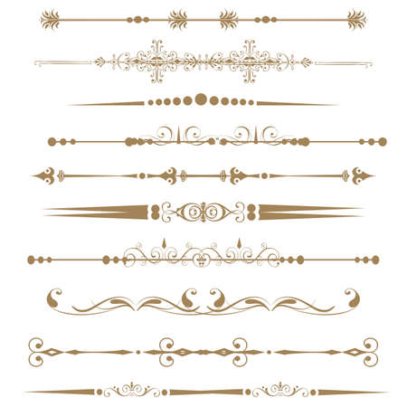 divider: Collection of Ornamental Rule Lines in Different Design styles