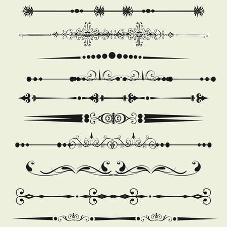 Collection of Ornamental Rule Lines in Different Design styles Stock Vector - 21637059