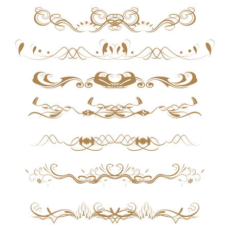Collection of Ornamental Rule Lines in Different Design styles Stock Vector - 21700100