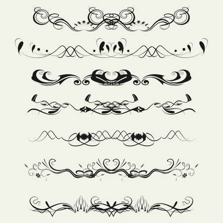 Collection of Ornamental Rule Lines in Different Design styles Stock Vector - 21700101