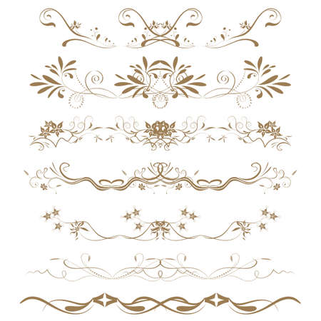 Collection of Ornamental Rule Lines in Different Design styles Stock Vector - 21700102