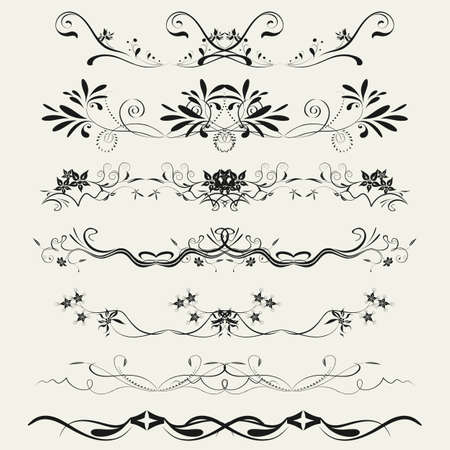 Collection of Ornamental Rule Lines in Different Design styles Stock Vector - 21700104