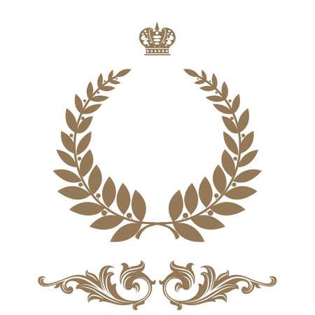 Elegant frame banner with crown  Vector
