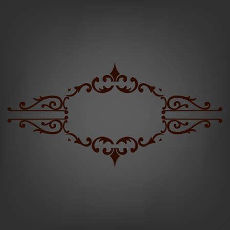 Elegant frame banner, floral elements.  Vector