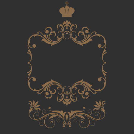 Elegant frame banner with crown Stock Vector - 22529691
