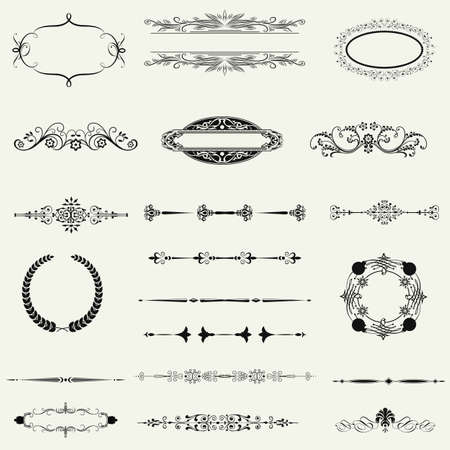 vector set: calligraphic design elements and page decoration - lots of useful elements to embellish your layout Vector