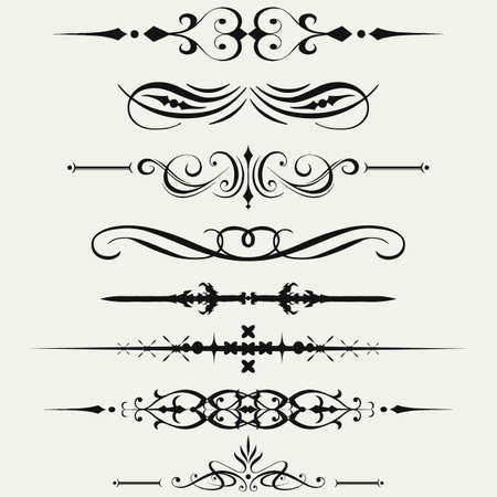Borders and elements for design. Vector. Vector