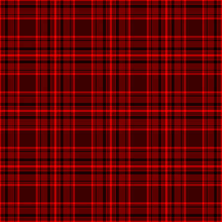 Tartan traditional checkered british fabric seamless pattern, black and red, vector Stock Vector - 24337773