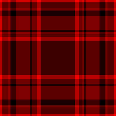 Tartan traditional checkered british fabric seamless pattern, black and red, vector Stock Vector - 24337775